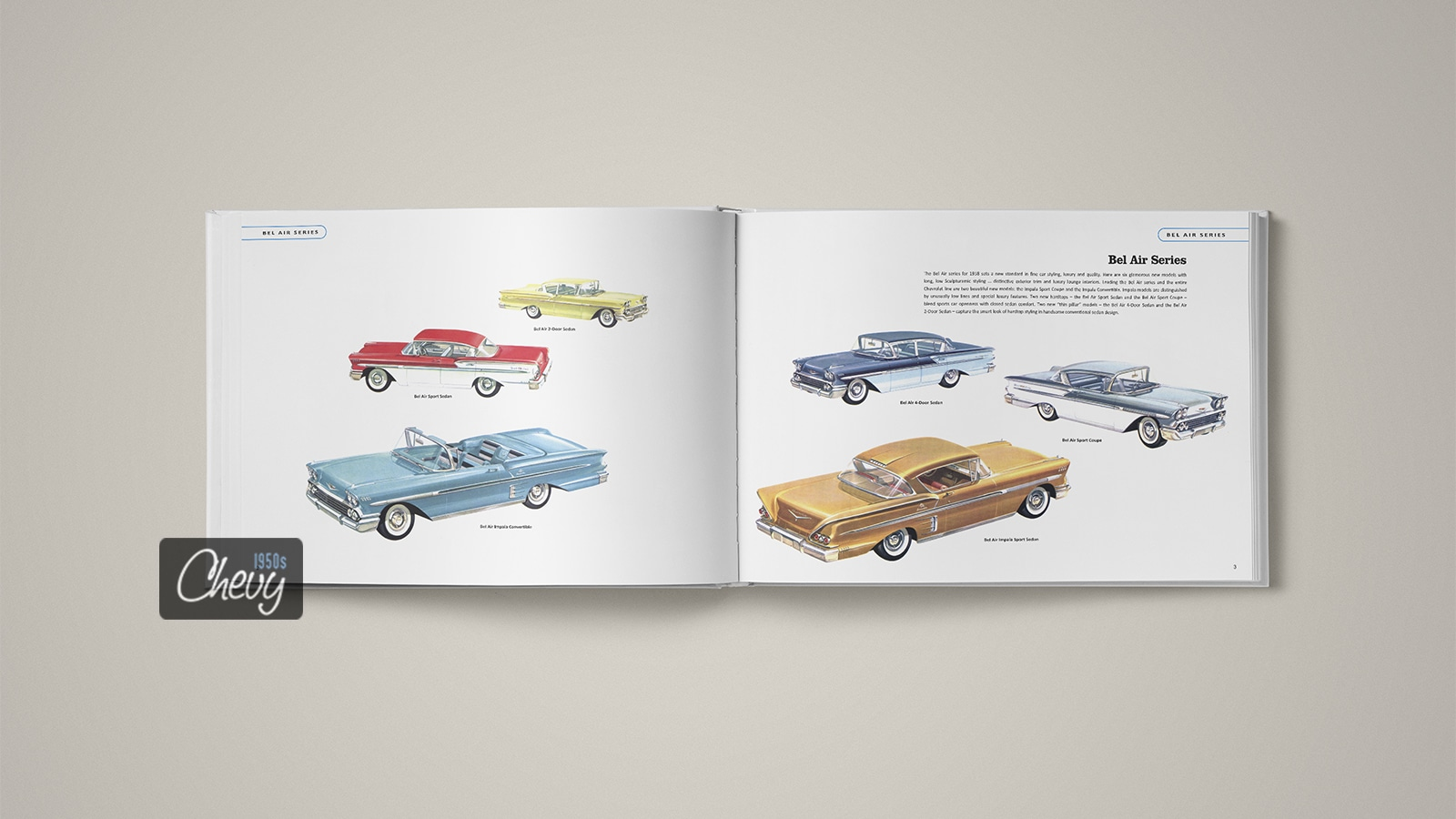 1958 Chevrolet Showroom Album Book 02