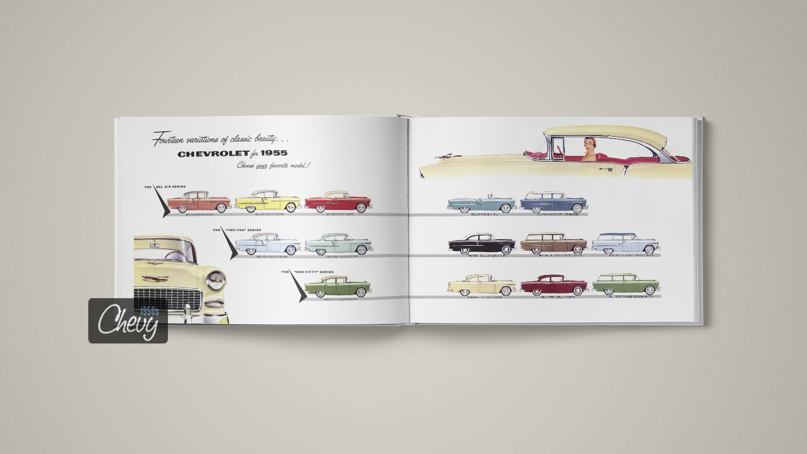 1955 Chevrolet Showroom Album Book 02