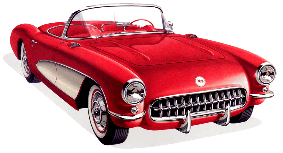 1957 Chevrolet Corvette Coloring Tool 1950s Chevy