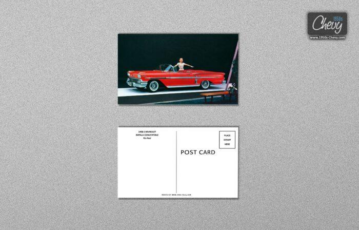1958 Chevrolet Impala Convertible Postcard 01