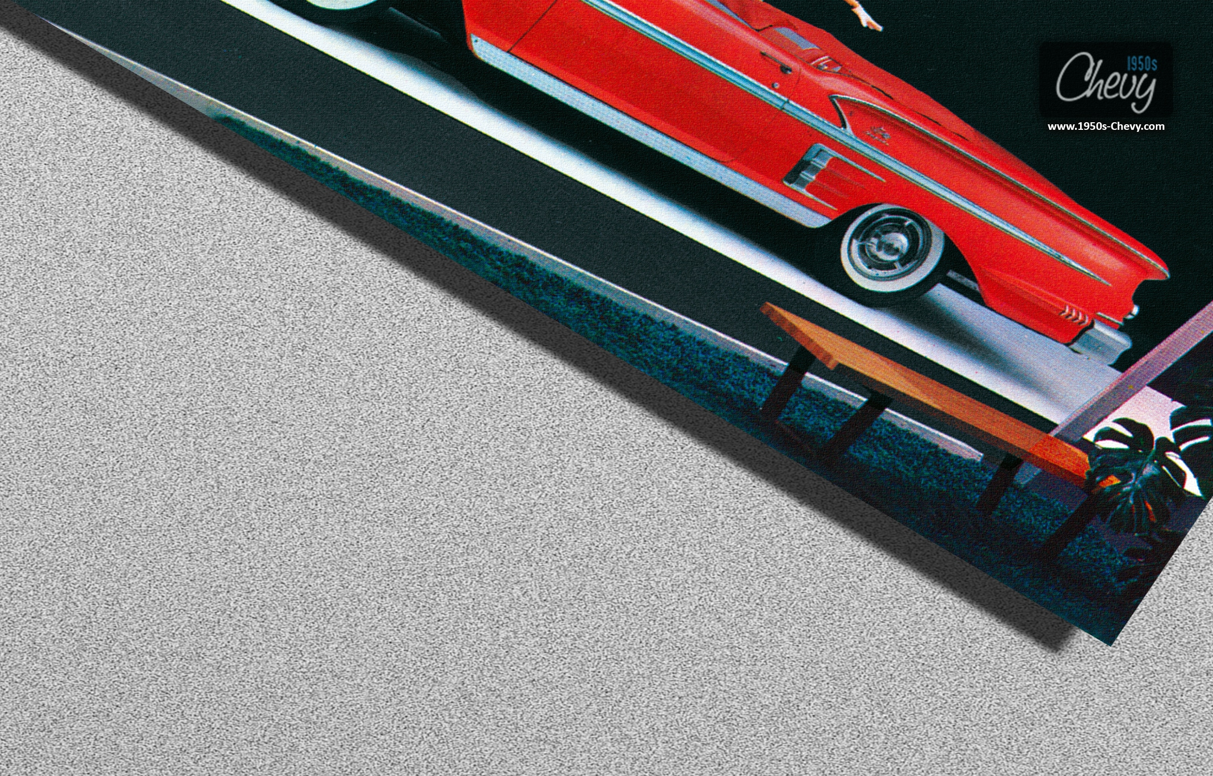 1958 Chevrolet Impala Convertible Postcard 02
